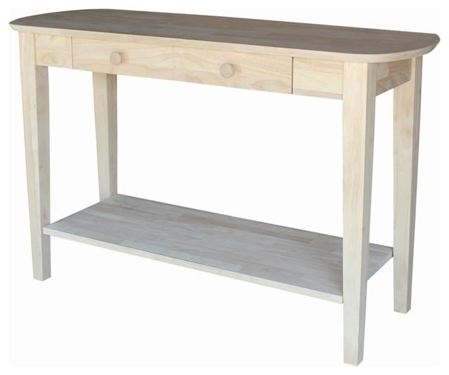 40 Farmhouse Console Table: Mason Philips Oval Sofa Table, Unfinished