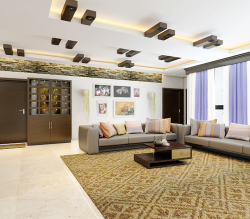 Fake Ceiling Designs Living Room: Villa Living Room Design