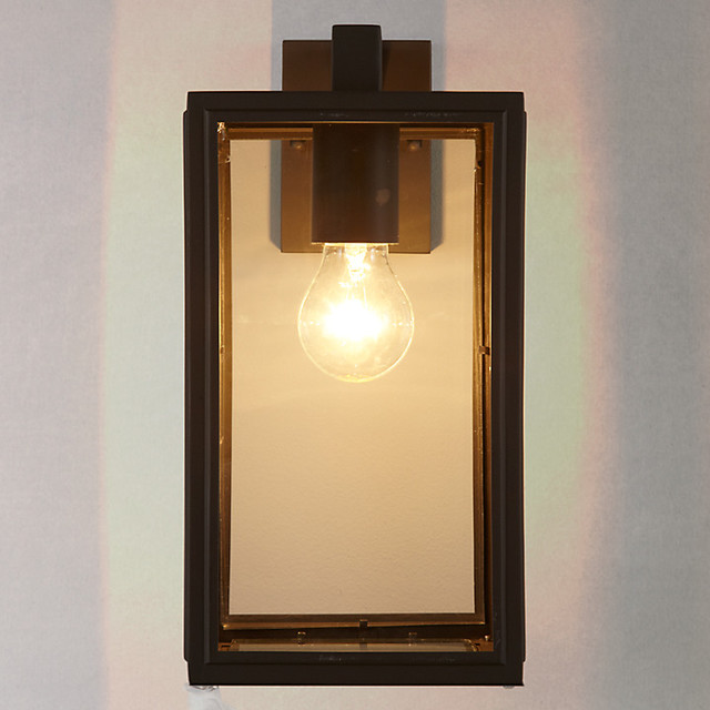 Crompton Outdoor Glass Lantern, Coffee - Traditional - Outdoor Wall Lights - by John Lewis