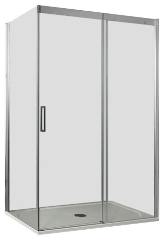 Dream Sliding Door Clear Glass Shower Enclosure, Right-Opening, 70x120 cm