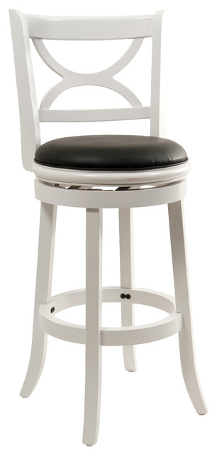 Florence Swivel Bar Stool Transitional Bar Stools And