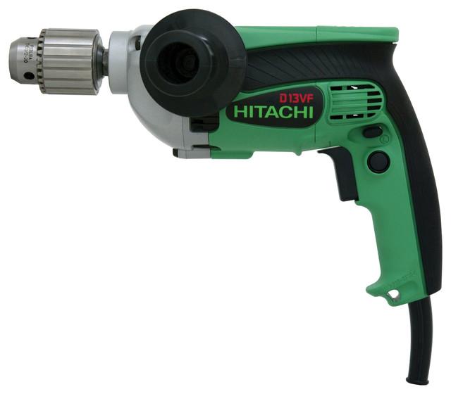 """Hitachi D13vf 1/2"""" 9 Amp Drill, Evs Reversible."""