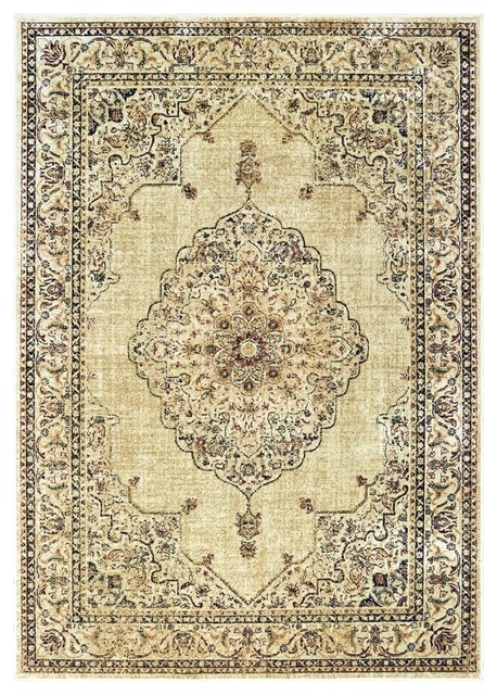 Royalton Stirling Ivory Rug Traditional Area Rugs By