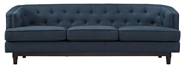 Orbona Upholstered Sofa In Blue.