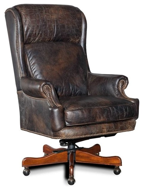 Hooker Furniture Old Saddle Fudge With Croc Accents