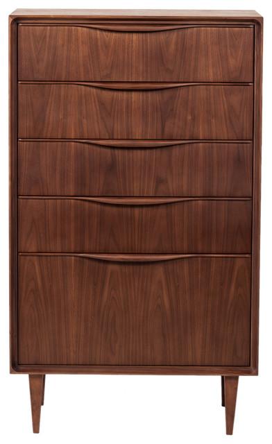 Baxter Midcentury Modern Tall Boy Dresser
