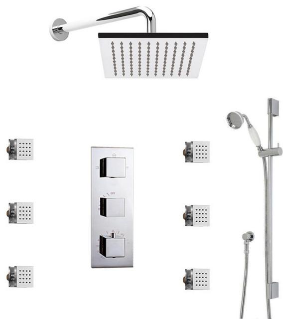 Genoa Square Bathroom Shower Set With