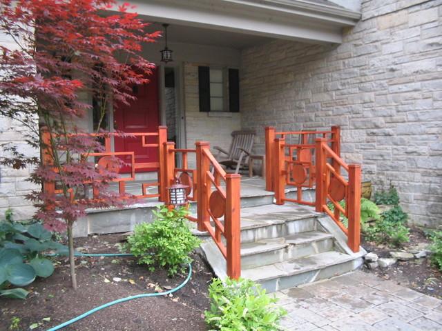 custom hand rail and gate asian