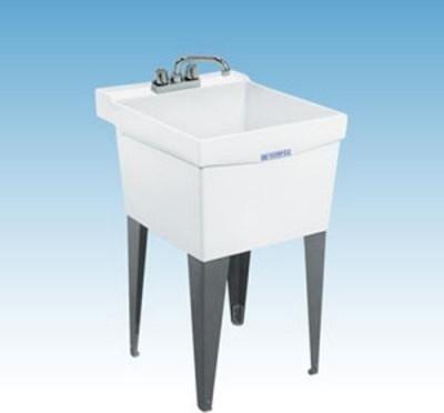 Mustee 18F Single Basin Floor Mount Utility Sink Modern Utility Sinks
