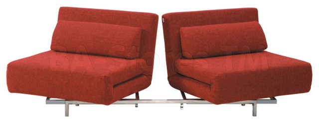 Convertible LK06-2 2 Seater Sofa Bed in Red Fabric - Modern ...