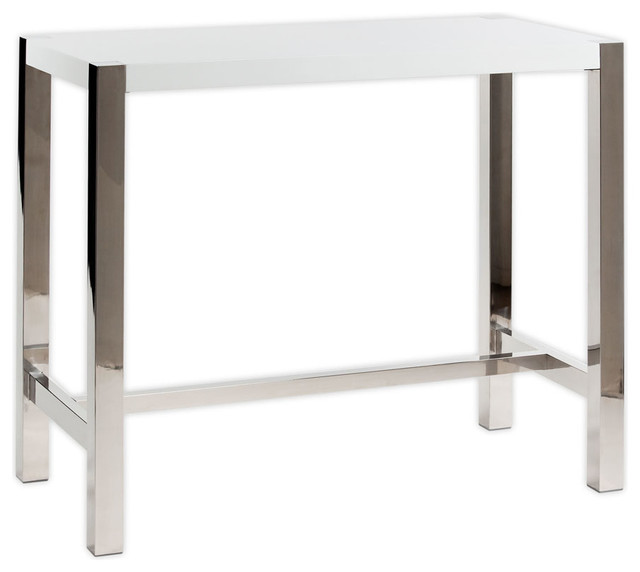 Moeu0027s Home Riva Rectangular Bar Table In White Contemporary Indoor Pub And