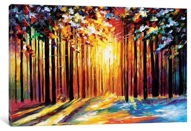 """sun Of January Gallery"" By Leonid Afremov, 18x12x0.75""."