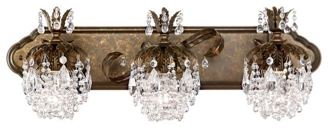 Schonbek Lighting 1256-76CL Rondelle Heirloom Bronze Vanity Light ...