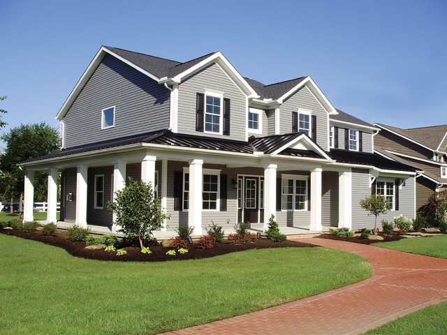 Schumacher home exterior traditional exterior other for Traditional home exterior