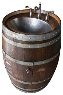 Wine Barrel Vanity Rustic Bathroom Vanities And Sink Consoles - Wine barrel bathroom vanity