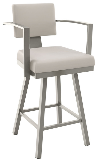 akers polyester swivel stool counter height