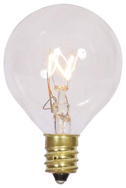 G40 Clear Twinkle Bulb 120v 7w E12 5/box