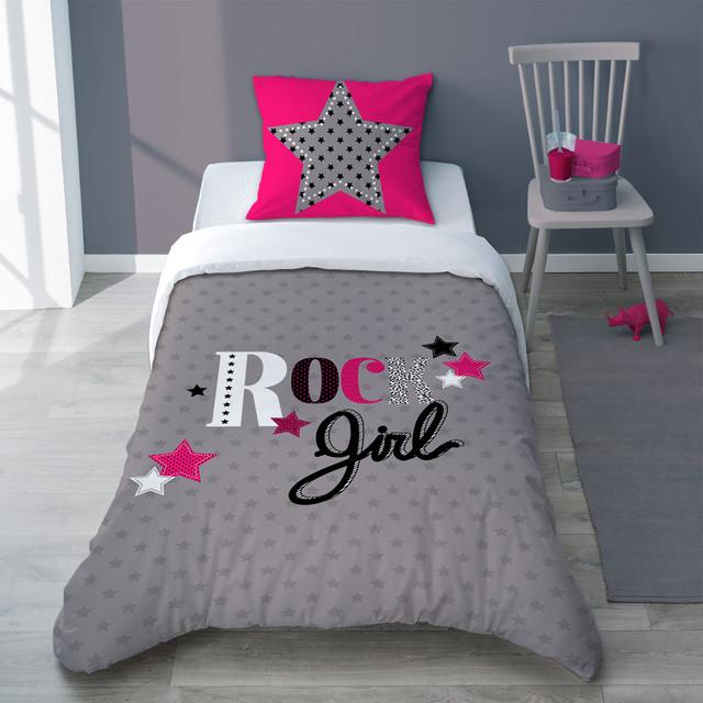 girly rock moderne housse de couette et parure de lit. Black Bedroom Furniture Sets. Home Design Ideas