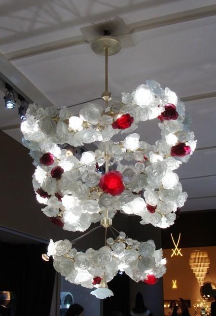 Biggs Ltd. Roses Chandelier Daum Crystal $680,000.00