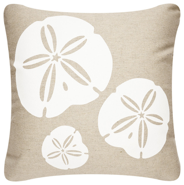 Sand Dollar Outdoor Pillow Without Insert Beach Style Outdoor Cushions And
