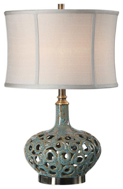 Uttermost Volu Abstract Swirl Lamp.