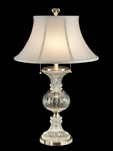 Dale Tiffany Brushed Nickel Table Lamp W/ 2 Light 60w.