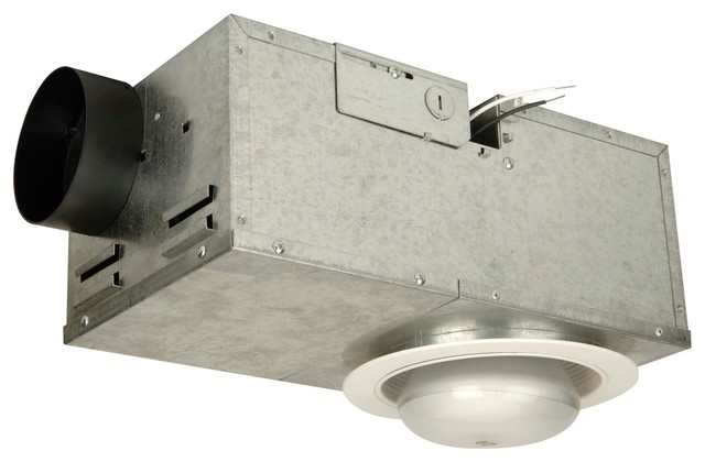 Builder Ventilation 1 Light Indoor Ceiling Fan In White Transitional Bathroom Exhaust Fans