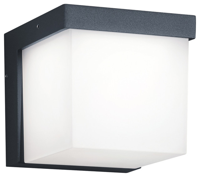 Yangtze Led Outdoor Wall Sconce, Dark Gray.