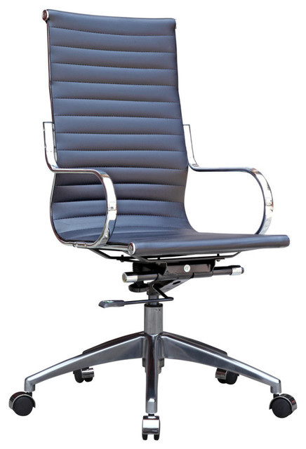 Modern Ribbed fice Chair High Back High Chairs And