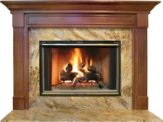 Franklin Mdf Primed White Fireplace Mantel Surround - Modern ...