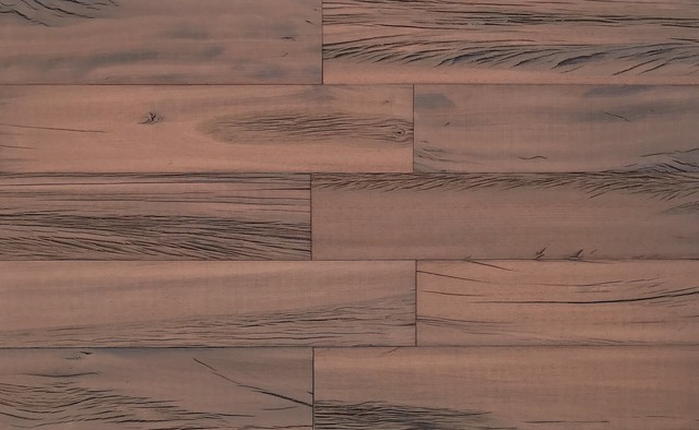"""4""""x2' 3D Brown Reclaimed Wood Wall Planks Holey Wood, Set of 16, 10 SF"""
