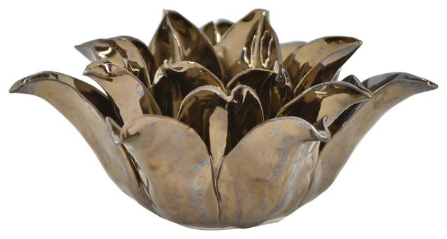 Ceramic Flower Candle Holder