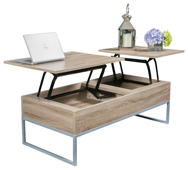 Gdfstudio ditmar lift top storage coffee table coffee tables houzz Lift top coffee tables storage