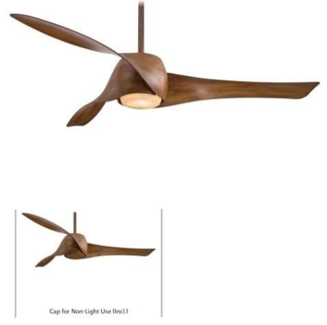 Fantastic Modern Dark Koa Wood Ceiling Fan - Ceiling Fans - by Kris Gorton  SD54