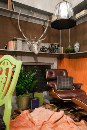 fireplace eclectic home office boston by eric m lake forest show house contemporary home office