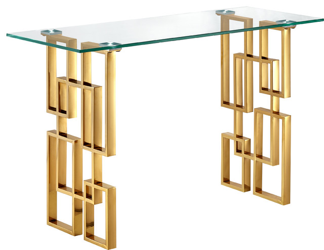 Pierre Gold Console Table.
