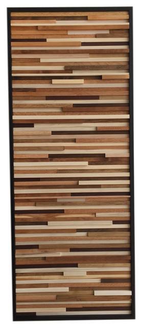 Reclaimed Wood Wall Installation Art 24 X60 Vertical