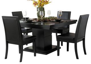 Homelegance Cicero 5 Piece Square Pedestal Dining Room Set
