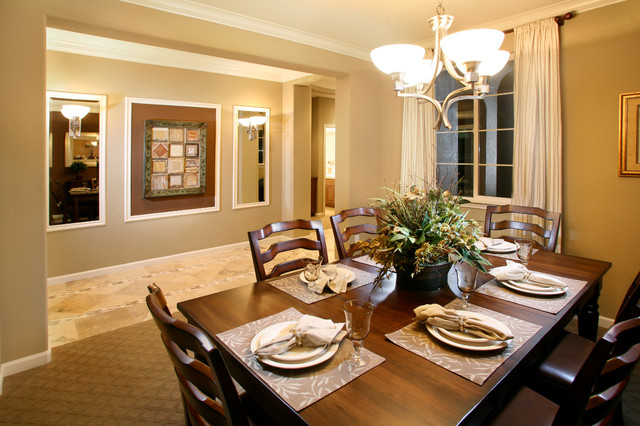 Model homes for Homes without dining rooms
