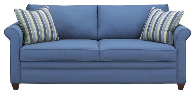 Navy Blue Queen Sleeper Sofa