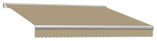 12&x27; Key West Full Cassette Manual Retractable Awning, Tan.