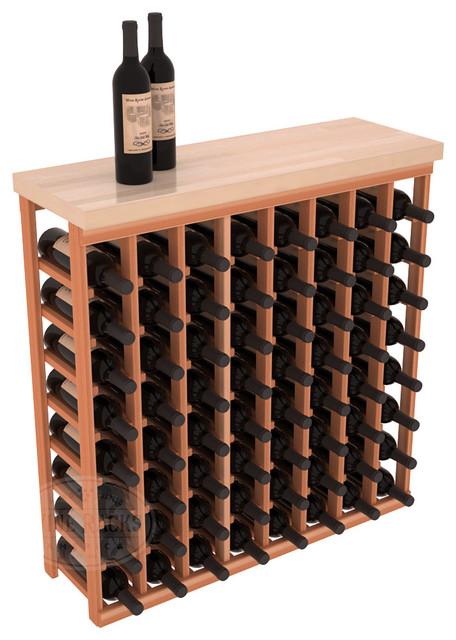 tasting table wine rack kit with butcher block top in