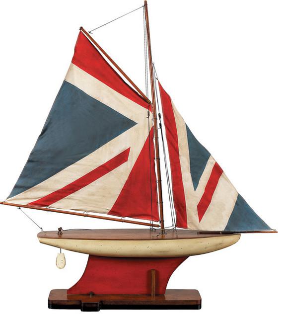 Union Jack Pond Yacht Traditional Decorative Objects