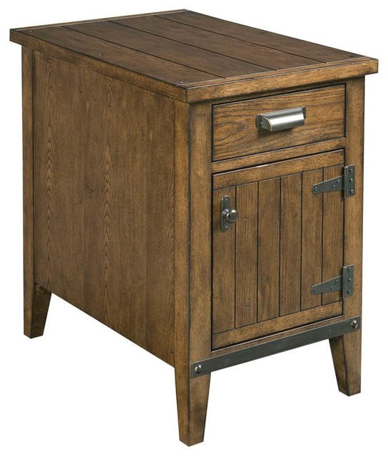 hammary chairsides rustic chairside table traditional