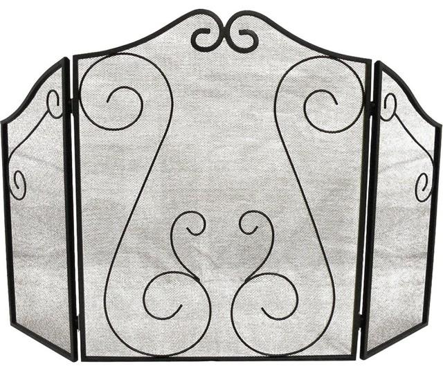Fireplace Scrollwork Screen.