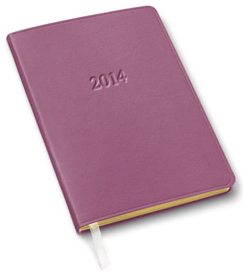 Weekly Leather Desk Planner, Orchid