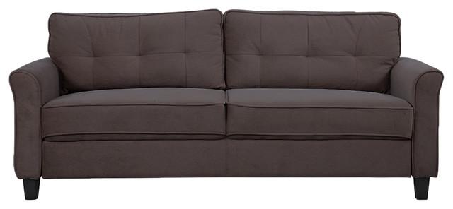 classic ultra comfortable microfiber fabric living room sofa