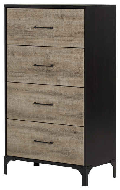 South Shore Valet 4 Drawer Chest Industrial Dressers