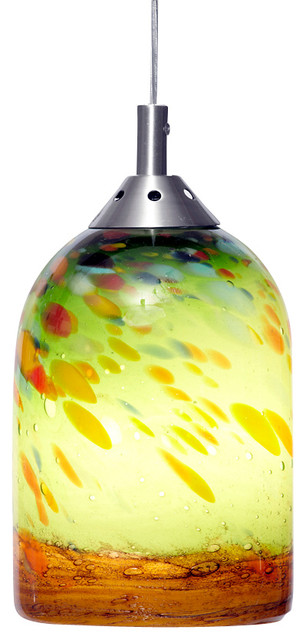 green and amber hand blown art glass pendant light contemporary pendant lighting art glass pendant lighting