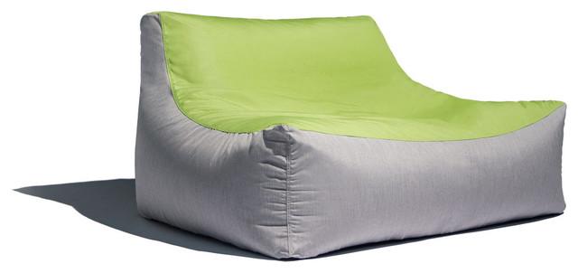 Ja Lavista Outdoor Bean Bag Loveseat Modern Patio Sofa